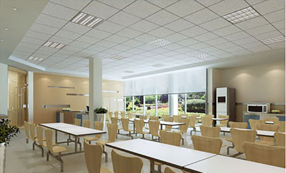 Restaurant Ceiling Mineral Fiber Board Is Good For Noise Reduction