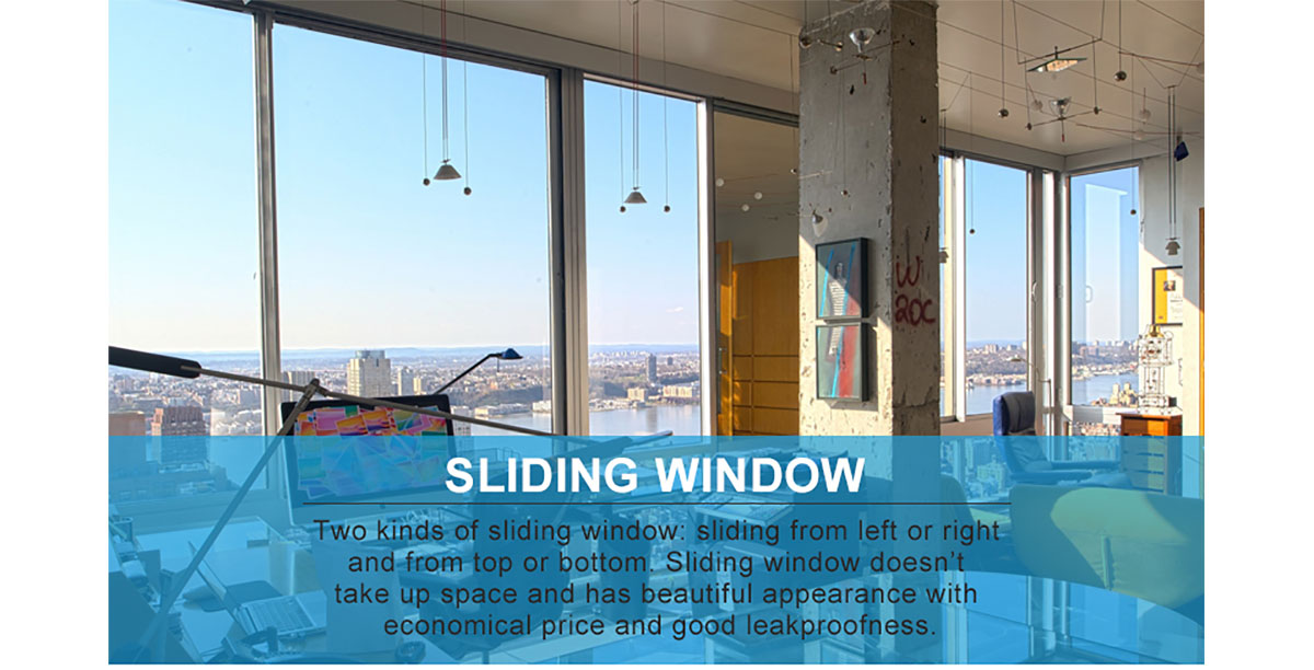 Sliding Office Window : Sound insulated newest office building lobby glass window