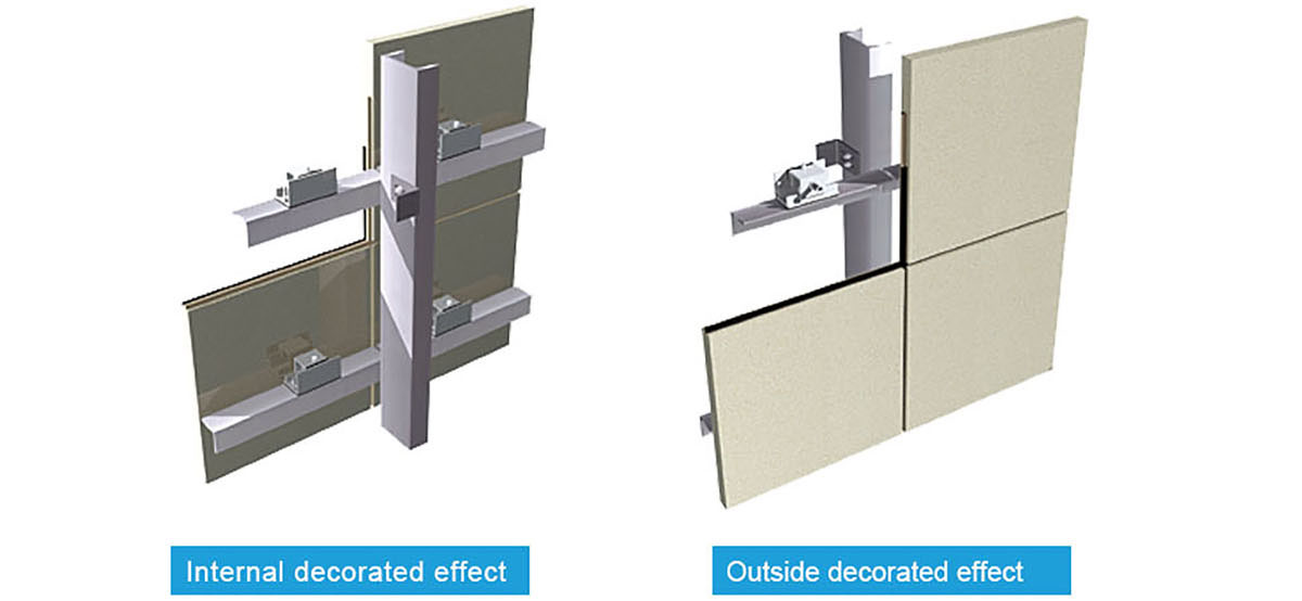 Curtain Wall Types : New products popular stone curtain wall prance