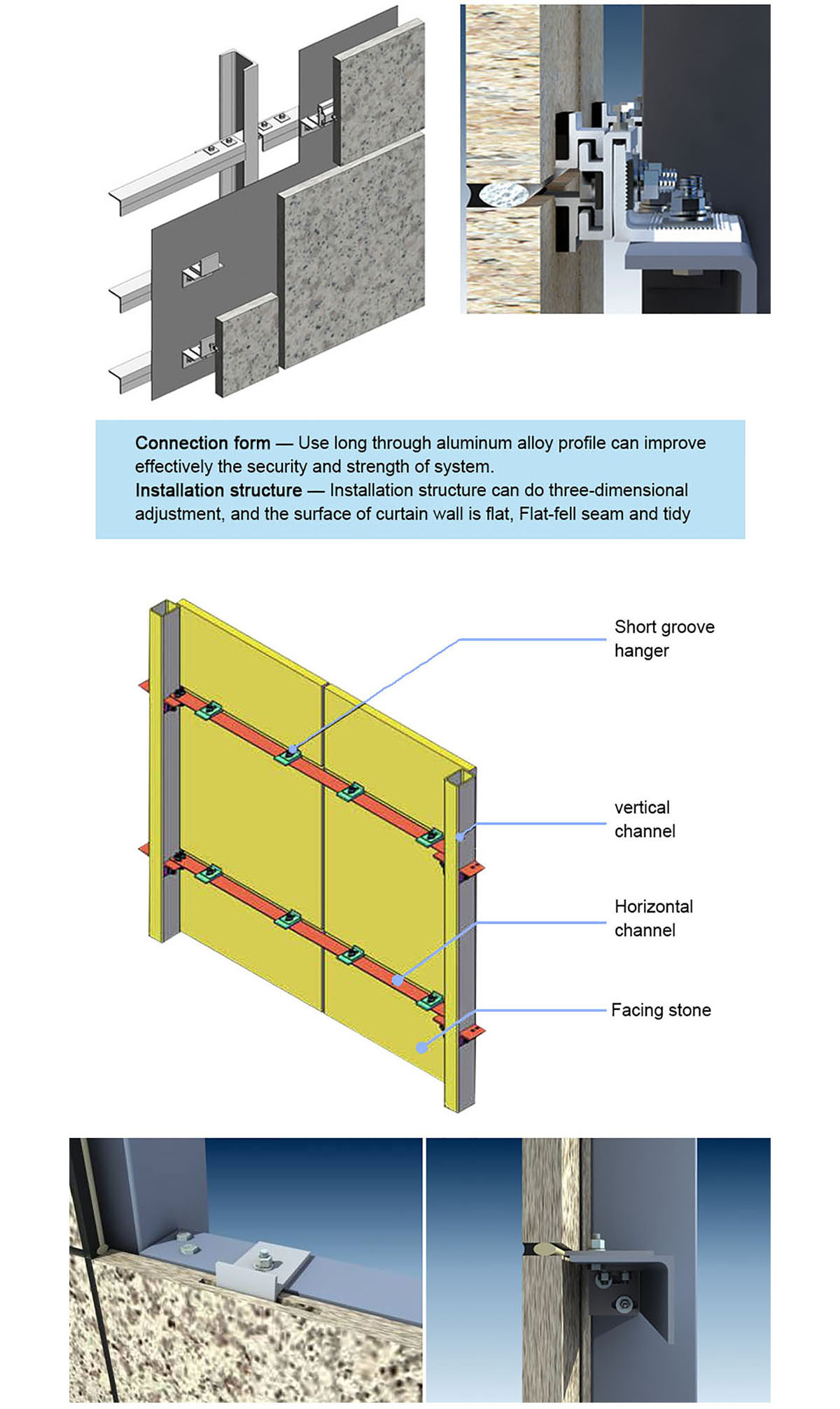 New Products Popular Stone Curtain Wall Prance