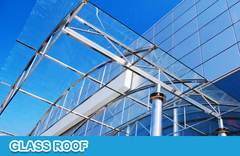 Philippines Moistureproof Transparent Glass Canopy Prance